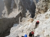Via ferrata hiking in Dolomites